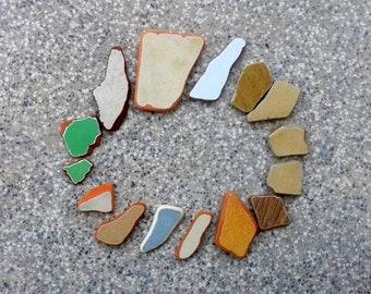 Sea pottery, sea bulk, DIY supply, 15 pcs set, ocean pottery, genuine sea debris, sea ceramics, sea findings, ceramic tiles, ceramic pieces