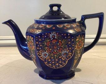 Hand Painted Cobalt Blue Teapot