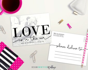 """Black & White Save the Date Postcard // 4.25x5.5"""" // The Meg Collection // PRINTABLE"""