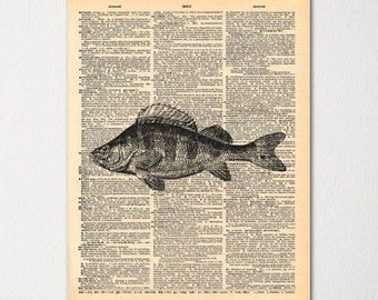 Bass Dictionary Art Print / Vintage Dictionary Paper