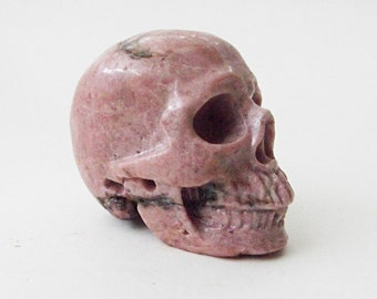 Rhodonite Crystal Skull - Crystals, Crystal Healing, Meditation, Stone of Compassion