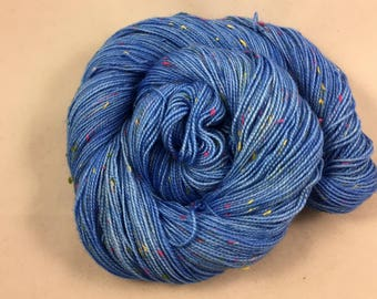 hand dyed sock yarn, Donegal Sock FRANKIE, superwash merino wool and nep, 2 ply