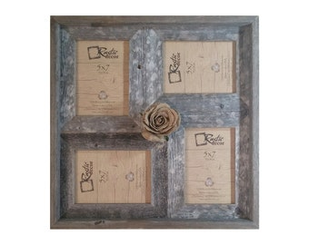 "5x7 -2"" wide Multi-Direction Rustic Barn Wood Collage Frame(Holds 5x7 Pictures)"