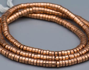 "Copper Heishi Spacer Beads 2.5X5MM 24"" Strand SKU-MH5C-150"