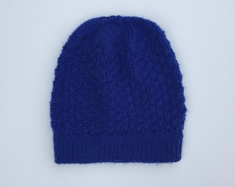 Warm Knitted Winter Beanie // Simple & Soft Hand Knit Hat