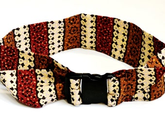"""2XL Dog Cooling Collar, Custom Extra Large Pet Neck Cooler Cool Tie Gel Bandana, Earth Tone Stripe fits 24-32"""" neck,Made to Order iycbrand"""