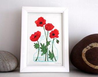 ORIGINAL Painted Illustration | Poppy