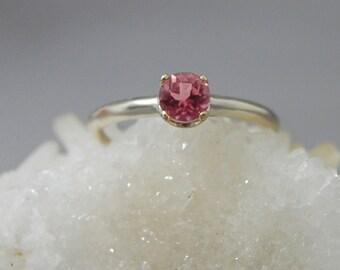 Katara- Pink Tourmaline Ring, alternate engagement ring, pink gemstone, promise ring, October birthstone ring, tourmaline stacking ring