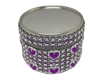 Heart Diamanté Scented Soy Candle