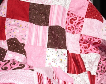 "SALE   Sweetheart Quilt - Deb Strain & Erin Michael fabric collecton - 46"" x 62"""