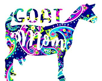 Goat Mom Decal, Dairy Goat Sticker - Dairy Goat Decal - Car Window,  Laptop Tumbler Water Bottle Bumper - You Choose Size and Color