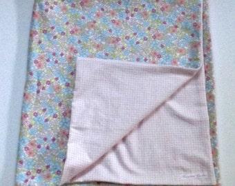 Pastel Flower Baby Blanket