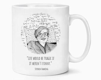 Stephen Hawking Quote RIP Look Up At The Stars Coffee Tea Mug Gift