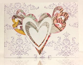 Valentine Heart with Wings 4x5 Card