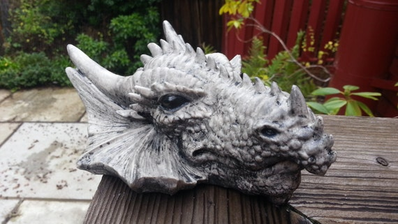 Dragon head sculpture, dragon air plant holder, Game of Thrones gift, wall hanging dragon head, faux taxidermy
