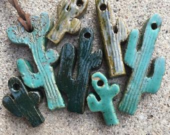 Saguaro ceramic pendant
