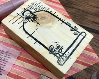Grande BELL JAR Wood Mounted Rubber Stamp