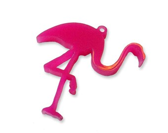 2 pcs Kitsch lawn Flamingo laser cut charms