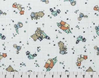 Embrace Double Gauze / Pajama Party 100% Cotton Muslin fabric by the yard