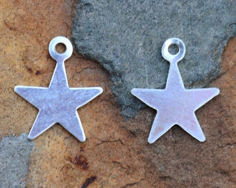 Sterling Silver 8.3x9.7mm Star Charm - Pick Your Bulk Price