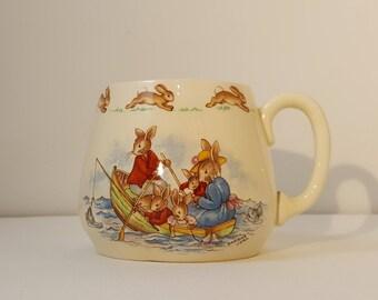 Vintage Bunnykins Cup Signed Barbara Vernon
