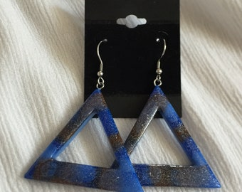 Handmade triangle Stud Earrings