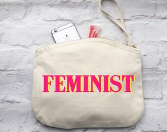 Feminist wristlet bag