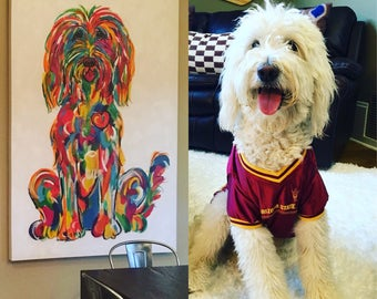 Dog Painting / Original / Hand Painted / Dog Portrait / Custom / Debby Carman / Faux Paw Productions