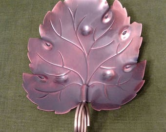 Vintage Copper Leaf Dish