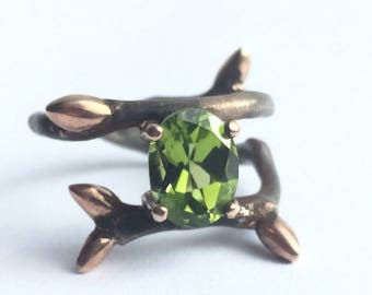 Twig Ring - Elvish Twig Ring - Silver Twig Ring - Stacking Ring - Twig Stacking Ring - Twig Stackable Ring - Thorn Ring - Delicate ring
