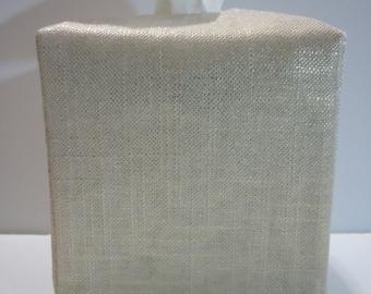 Prêt à être expédier - trophée lin métallisé or - boîte de mouchoirs tissu