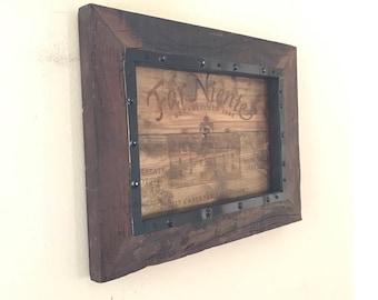 Wine Room Wall Art / Wine Decor -- Napa Valley Winery Reclaimed Wood Wall Piece