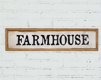 Farmhouse Wood Wall Sign, Wall decor