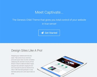 Captivate Genesis Theme: Flat, Responsive and WooCommerce Ready