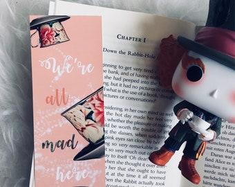 Alice in Wonderland inspired Bookmark