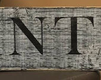 Pantry Handpainted Wood Sign Shabby Chic Rustic Country White Distressed