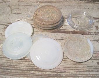 Antique Jar Lids and Inserts