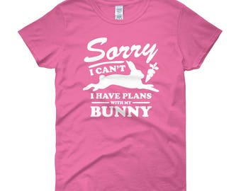 Womens bunny shirt - Rabbit shirt for her - Rabbit lover gift - Adorable bunny tee