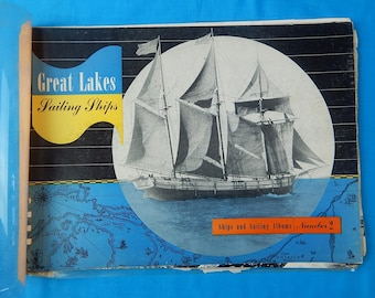Vintage Great Lakes Sailing Ships 1947 Book Album Collectable Gift for Him