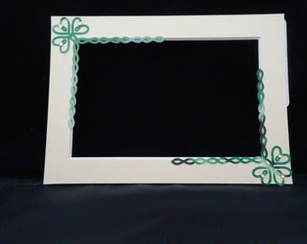 Custom Photo Mat with Celtic Knot Shamrock Accents