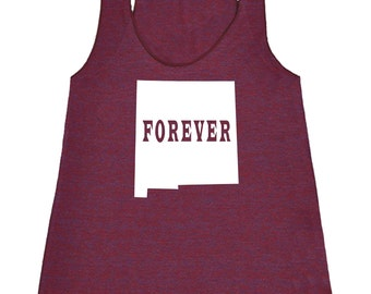 New Mexico Forever Tank Top. Women's Tri Blend Racerback Tank Top SEEMBO