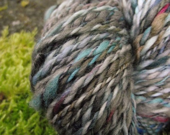 Handspun yarn, handpainted wool yarn, Falkland wool worsted weight  thick and thin multiple skeins available-Urban