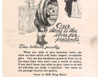 outcault drug store boy flyers advertising 1910 download