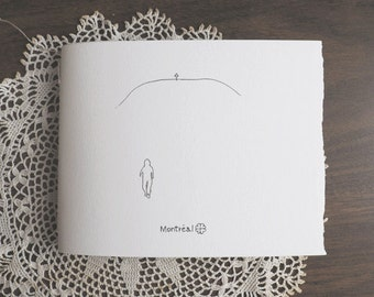 MONTREAL notebook made from 100% cotton paper