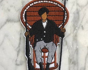 Huey P. Newton - Embroidered Iron-On Patch