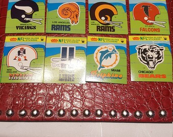 Set of  28 Fleer  1981 N F L High  Gloss Stickers