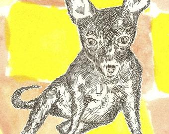 i ain't no princess - 5X7 dog art print