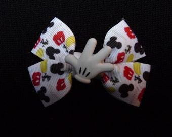 Disney bow - Mickey parts - White glove
