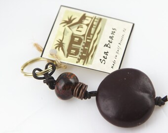 Sea Bean Key Chain (Note: Keychains no longer include the little brass coils listed in the first picture. They Do have the key ring.)