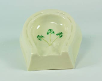 Belleek Shamrock Porcelain, Belleek Ashtray, Belleek Shamrock Ashtray, Belleek Porcelain, Belleek Home Decor, Belleek Kitchen, Belleek, Gift